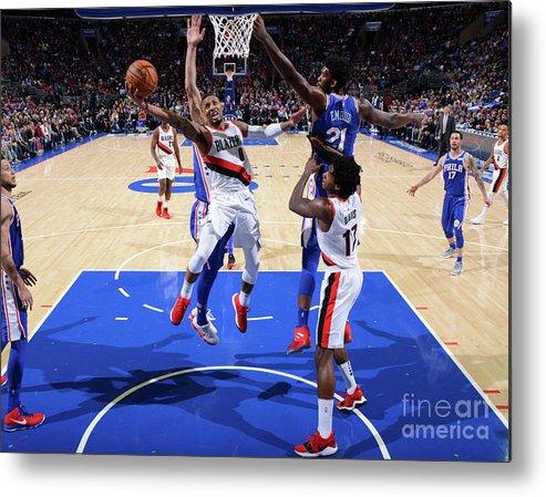 Nba Pro Basketball Metal Print featuring the photograph Damian Lillard by Jesse D. Garrabrant