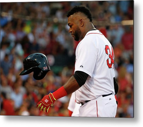 Headwear Metal Print featuring the photograph David Ortiz by Winslow Townson