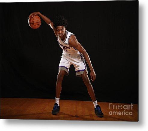 Nba Pro Basketball Metal Print featuring the photograph De'aaron Fox by Brian Babineau