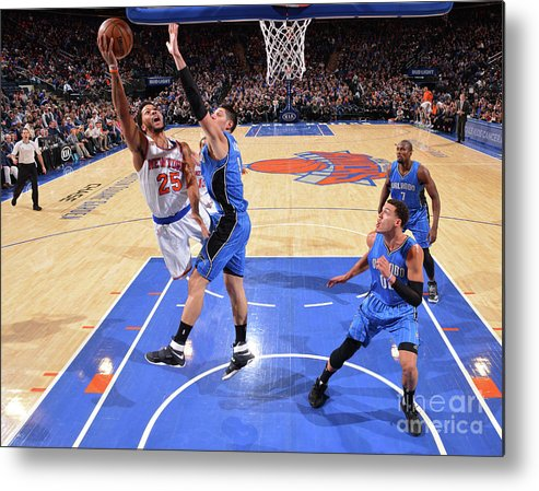 Nba Pro Basketball Metal Print featuring the photograph Derrick Rose by Jesse D. Garrabrant
