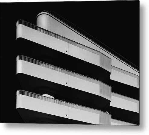Downtown District Metal Print featuring the photograph facade study lV by Anton Schedlbauer