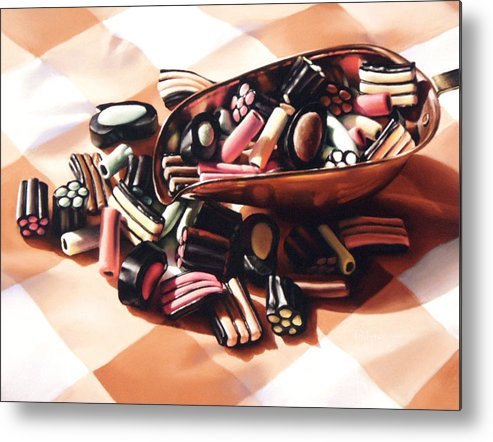 Candy Metal Print featuring the pastel Finnish Allsorts by Dianna Ponting