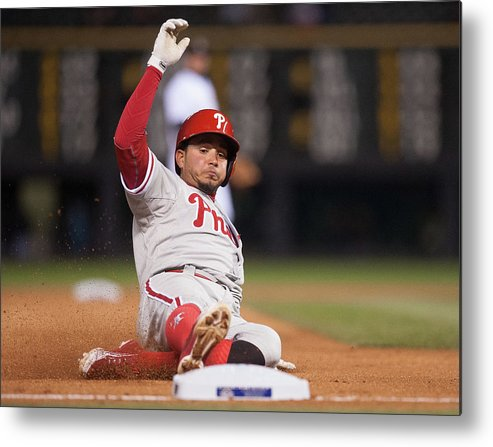 People Metal Print featuring the photograph Freddy Galvis by Dustin Bradford