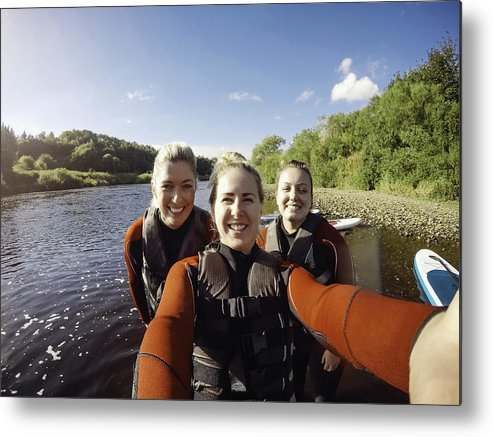 Spray Metal Print featuring the photograph Friends Selfie! by SolStock