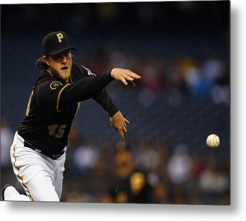American League Baseball Metal Print featuring the photograph Gerrit Cole by Matt Sullivan