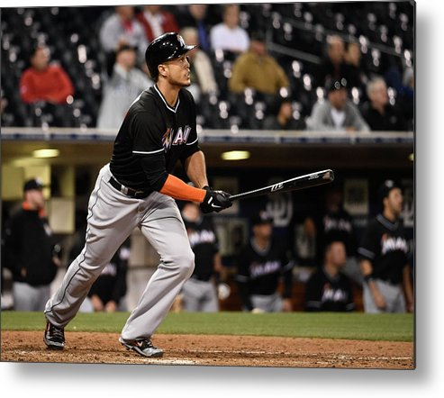 California Metal Print featuring the photograph Giancarlo Stanton by Denis Poroy