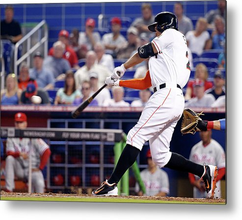 American League Baseball Metal Print featuring the photograph Giancarlo Stanton by Rob Foldy