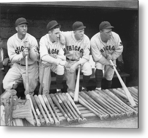 People Metal Print featuring the photograph Hack Wilson And Rogers Hornsby by Chicago History Museum