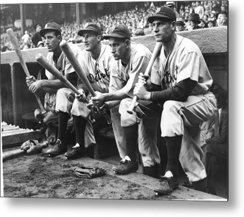 People Metal Print featuring the photograph Hank Greenberg and Goose Goslin by Fpg