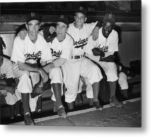 People Metal Print featuring the photograph Jackie Robinson by Fpg