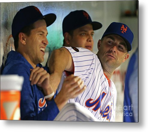 Jacob Degrom Metal Print featuring the photograph Jacob Degrom and David Wright by Rich Schultz