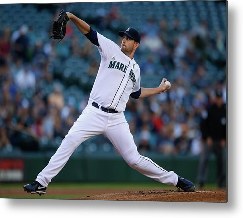 American League Baseball Metal Print featuring the photograph James Paxton by Otto Greule Jr