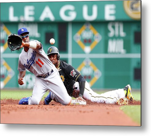 People Metal Print featuring the photograph Jimmy Rollins and Starling Marte by Jared Wickerham