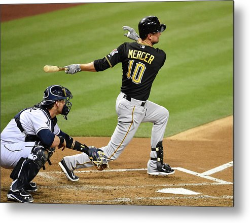 California Metal Print featuring the photograph Jordy Mercer by Denis Poroy