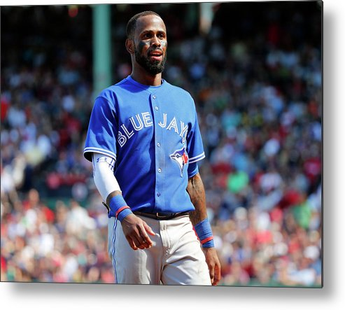 Three Quarter Length Metal Print featuring the photograph Jose Reyes by Winslow Townson