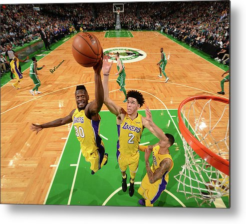 Nba Pro Basketball Metal Print featuring the photograph Julius Randle and Lonzo Ball by Jesse D. Garrabrant