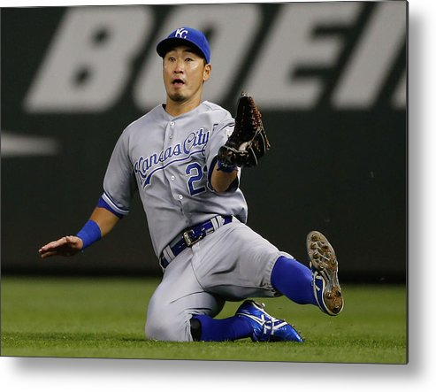 American League Baseball Metal Print featuring the photograph Justin Smoak by Otto Greule Jr
