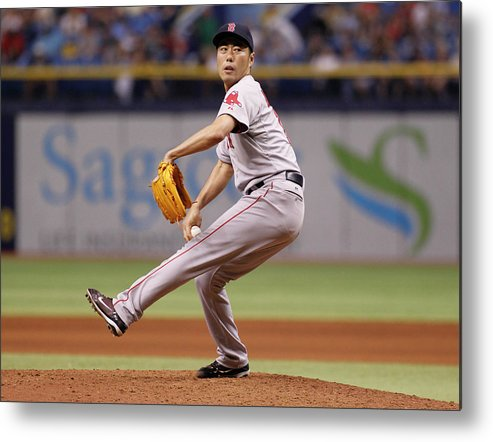 Ninth Inning Metal Print featuring the photograph Koji Uehara by Brian Blanco