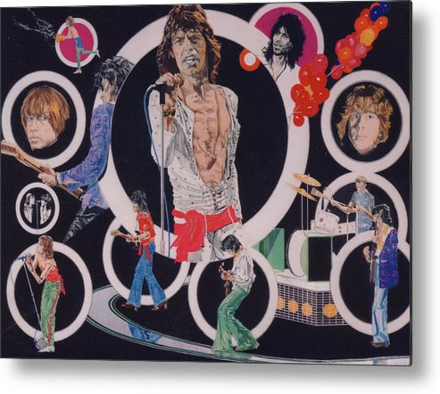 The Rolling Stones Metal Print featuring the drawing Ladies And Gentlemen - The Rolling Stones by Sean Connolly