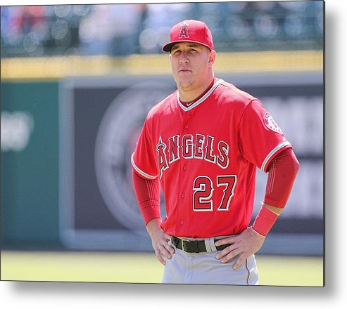 People Metal Print featuring the photograph Mike Trout by Leon Halip
