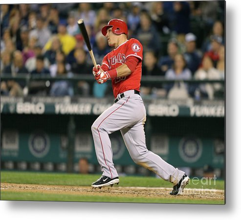 People Metal Print featuring the photograph Mike Trout by Otto Greule Jr