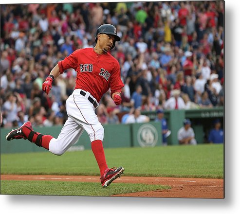 People Metal Print featuring the photograph Mookie Betts by Jim Rogash