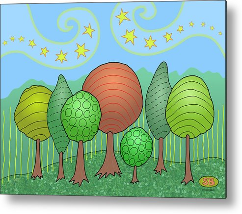 Family Metal Print featuring the digital art My Family by Susan Bird Artwork