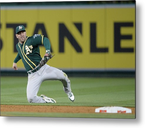 Second Inning Metal Print featuring the photograph Nick Punto and Chris Iannetta by Harry How
