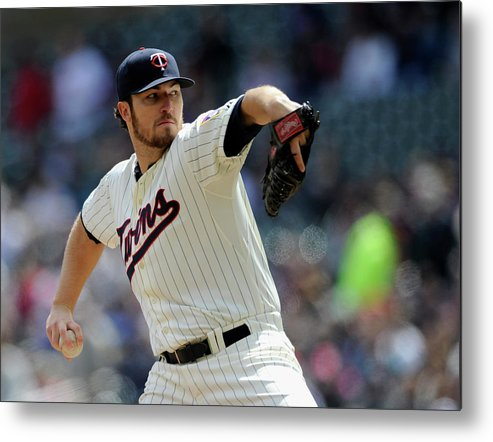 American League Baseball Metal Print featuring the photograph Phil Hughes by Hannah Foslien