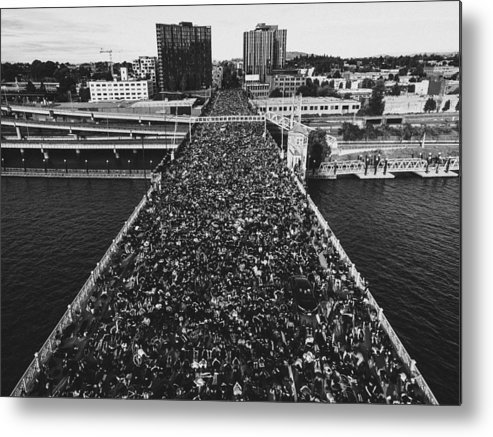Protest Metal Print featuring the photograph Portland Protests #3 by Andrew Wallner