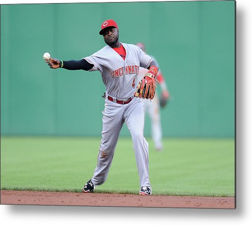 Pnc Park Metal Print featuring the photograph Red Phillips by Joe Sargent