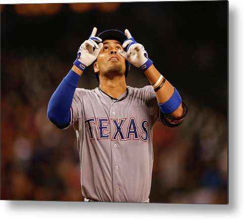 American League Baseball Metal Print featuring the photograph Robinson Chirinos by Otto Greule Jr