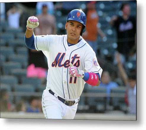 Residential District Metal Print featuring the photograph Ruben Tejada by Christopher Pasatieri