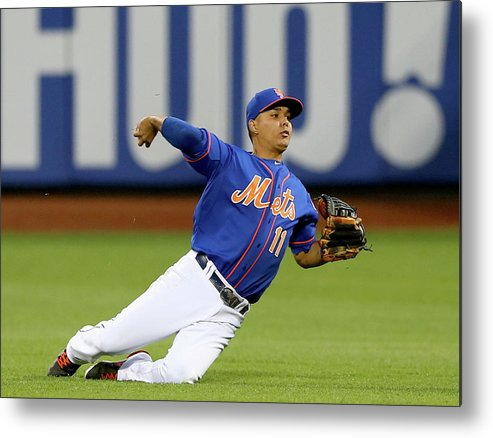 Second Inning Metal Print featuring the photograph Ruben Tejada by Elsa