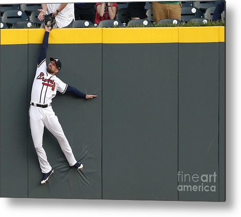 Atlanta Metal Print featuring the photograph Scott Kingery and Ender Inciarte by Mike Zarrilli