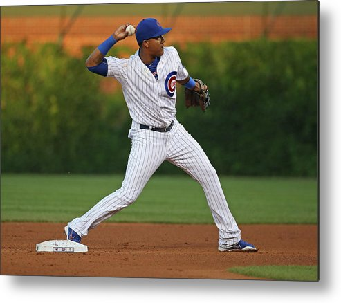 People Metal Print featuring the photograph Starlin Castro by Jonathan Daniel