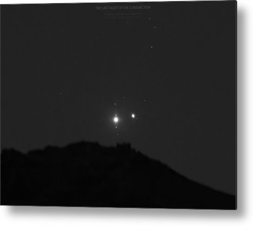 Metal Print featuring the photograph The Last sight of the Conjunction by Prabhu Astrophotography