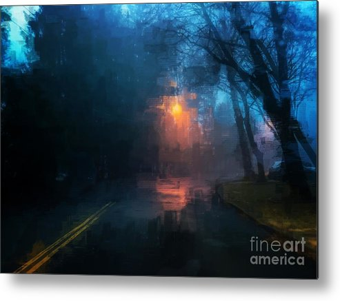 Light Metal Print featuring the photograph The Light Shines in the Darkness by Eddy Mann