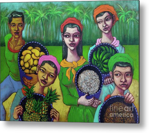 Summer Metal Print featuring the painting The Summer Harvest by Paul Hilario