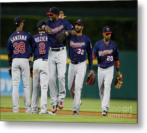 People Metal Print featuring the photograph Torii Hunter by Gregory Shamus