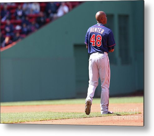 People Metal Print featuring the photograph Torii Hunter by Jim Rogash