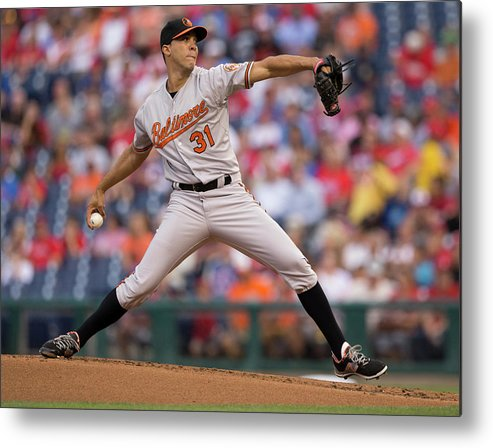 People Metal Print featuring the photograph Ubaldo Jimenez by Mitchell Leff