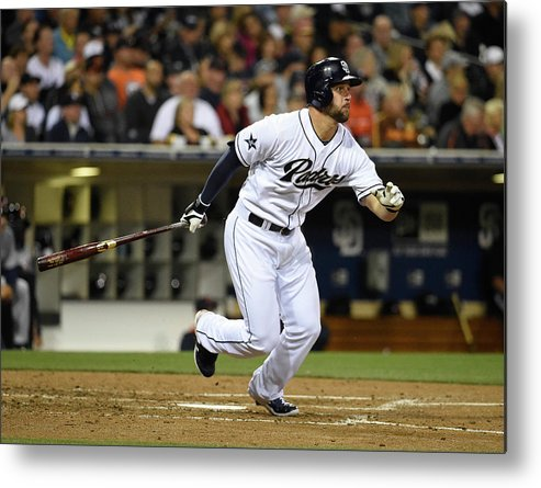 American League Baseball Metal Print featuring the photograph Yonder Alonso by Denis Poroy