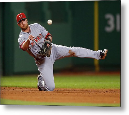 American League Baseball Metal Print featuring the photograph Zack Cozart by Jared Wickerham
