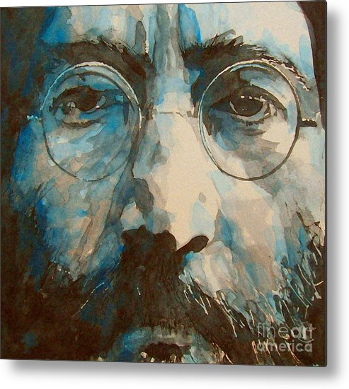John Lennon Metal Print featuring the painting I was the Dreamweaver by Paul Lovering