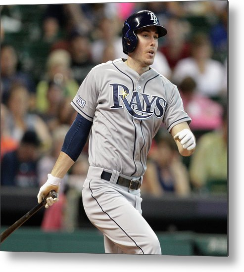 Second Inning Metal Print featuring the photograph Tampa Bay Rays V Houston Astros by Bob Levey