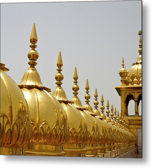 Tranquility Metal Print featuring the photograph Domes At Golden Temple by *swatikulkarni*