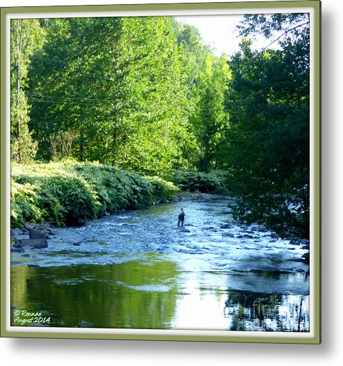 Landscape Metal Print featuring the photograph My Fishing Place by Rennae Christman