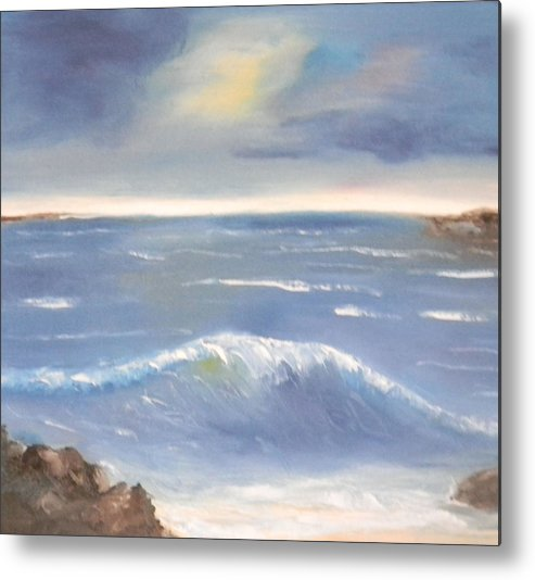 Oil Metal Print featuring the painting Blue Water by Pamela Wilson