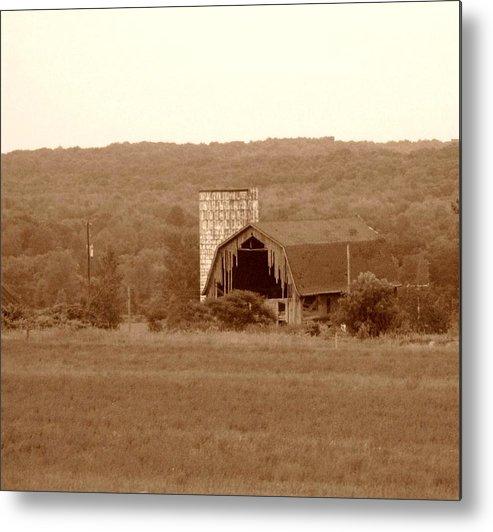 Barn Metal Print featuring the photograph Broken by Rhonda Barrett